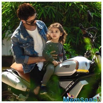 Family Affairs: Shahid Kapoor and Misha go biking, see adorable pics