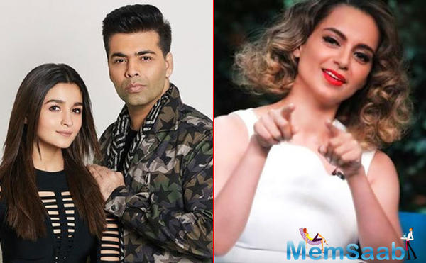 Kangana Ranaut hits back at Alia, says 'her existence is all about being KJo's puppet'