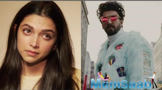 Deepika Padukone comments on Ranveer Singh Outfit