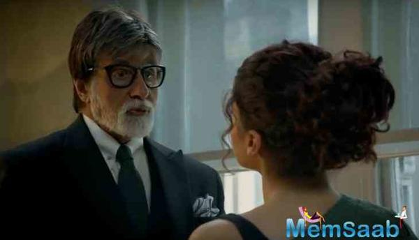 Badla Trailer: Amitabh Bachchan and Taapsee Pannu's thriller crime drama gets a thumbs-up