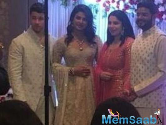 Priyanka and Nick look stunning in Indian costume at brother Siddharth Chopra's roka ceremony