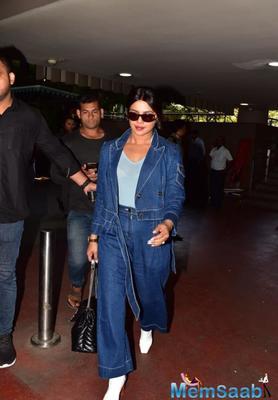 Priyanka Chopra Jonas flaunts her sindoor as she gets spotted at Mumbai Airport