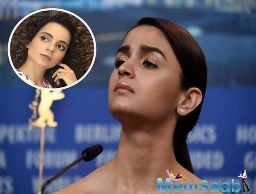 After Kangana Ranaut slammed Alia Bhatt for not speaking over contemporary issues, the actor said while she respects the