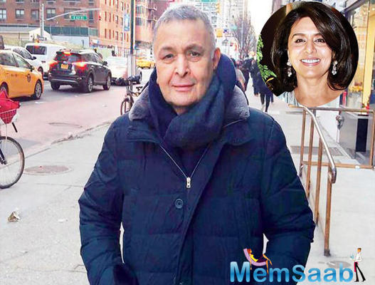 Rishi Kapoor takes the short cut; Neetu Kapoor shares his new look