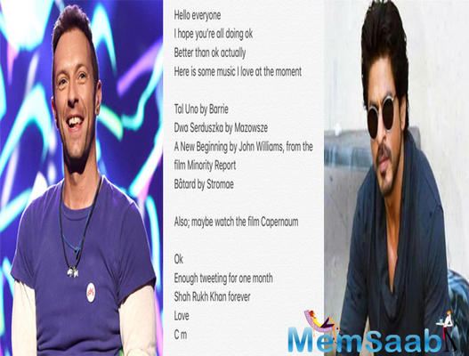 SRK was quick to respond,