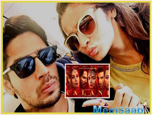Former lovers Sidharth Malhotra and Alia Bhatt had a moment over Kalank