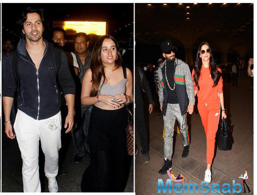 Ranveer and  Deepika adopt Varun while his GF Natasha Dalal gets adopted by the Dhawans, Take a look