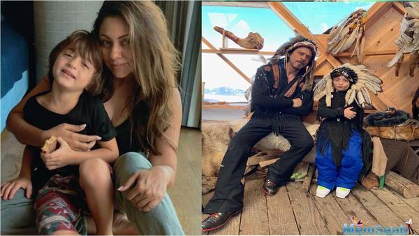Gauri Khan shares Shah Rukh Khan and AbRam Khan's quirky look