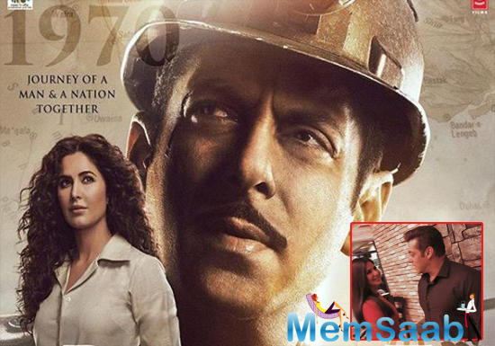 The third poster also stars the gorgeous Katrina Kaif in all her curly-haired glory. The actress can be seen sporting a crisp white shirt tucked into beige trousers, looking all sharp and stunning.