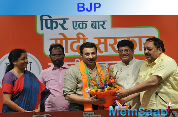 Finally, putting a rest to all the speculations, Sunny Deol on Tuesday, joined BJP in presence of Union Ministers Piyush Goyal and Nirmala Sitharaman.