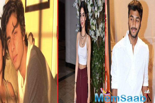 Khushi Kapoor opts for Ahaan Panday over SRK's son Aaryan Khan and Javed Jaffery's son Mizaan