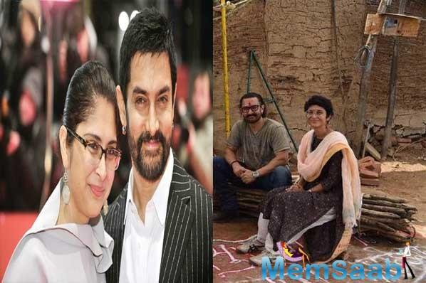 Aamir Khan and Kiran Rao spend time in a village