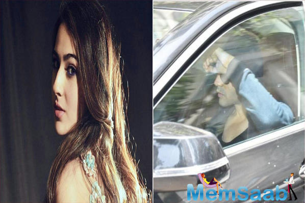 Kartik Aaryan hides his face as he gets snapped outside Sara Ali Khan's house