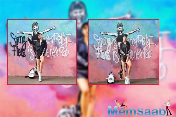 Sara Ali Khan reveals hidden talent, creates super cool graffiti