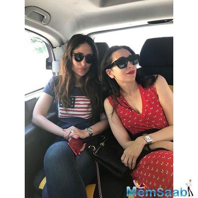 Karisma Kapoor shares a photo with sister Kareena and mom Babita, calls them her 'mains'