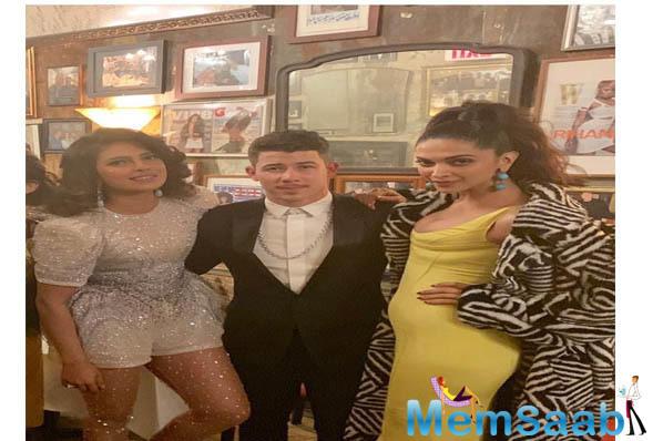 Nick Jonas, Natasha Poonawalla, Huma Abedin and Anaita Shroff Adajania also partied with them.'