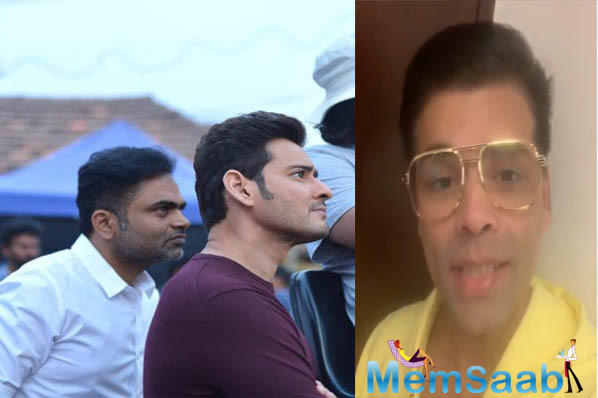 Mahesh Babu receives best wishes for his 25th film 'Maharshi' from Karan Johar