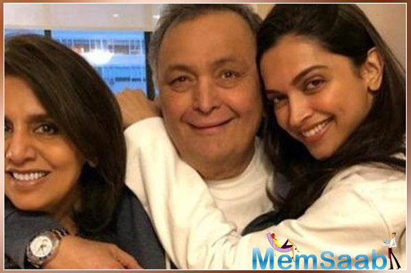 Deepika Padukone spends some quality time with Ranbir Kapoor's parents Rishi and Neetu Kapoor