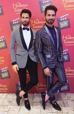 Shahid Kapoor unveils his wax statue at Madame Tussauds and fans cannot decide who is better looking