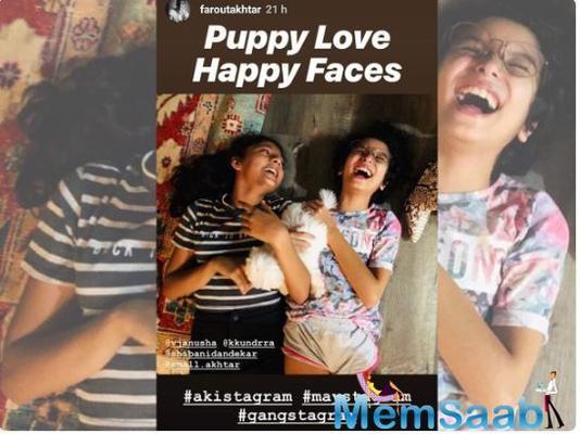 """Farhan Akhtar shares """"happy faces"""" of his kids Shakya and Akira"""