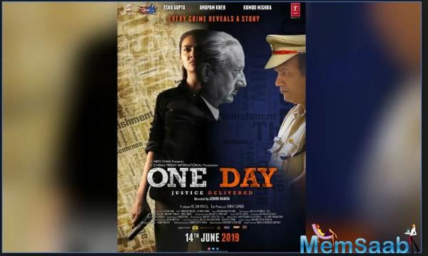 Esha Gupta unveils a new poster of her upcoming film 'One Day: Justice Delivered'; trailer out today!