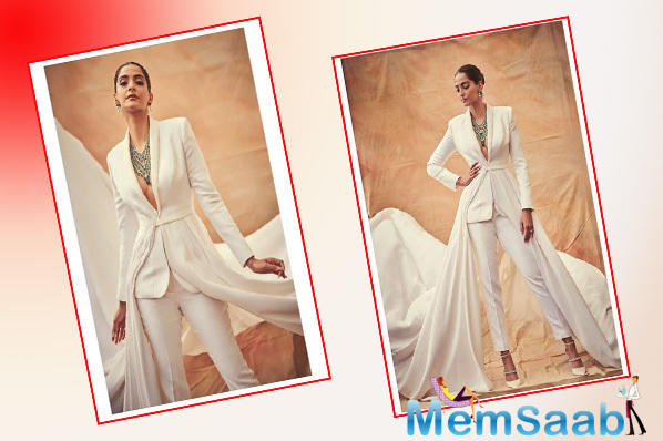 Cannes 2019: Sonam Kapoor Ahuja means business in white tuxedo with a twist