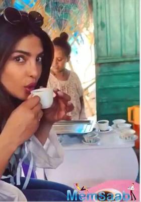 Priyanka Chopra shares a video of herself sipping on Ethiopian coffee