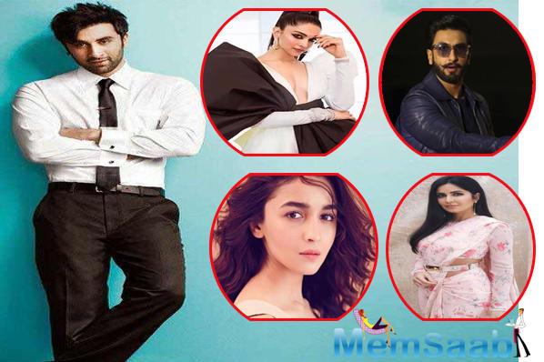 Ranbir Kapoor admits he secretly follows Katrina, Deepika, Alia and Ranveer on social media