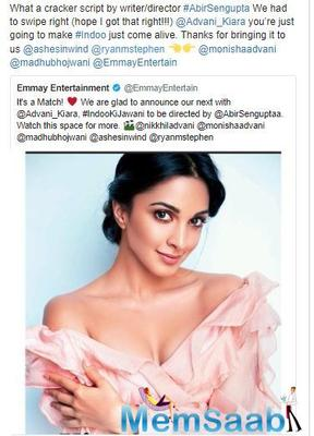 Kiara Advani has been on a career roll. Her slate of upcoming films also includes Good News, which also stars Kareena Kapoor Khan, Akshay Kumar, and Diljit Dosanjh. The film will release on December 27.