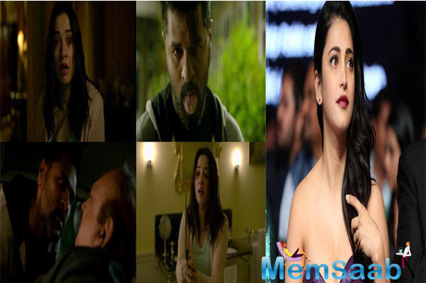 Actor-singer Shruti Haasan has lent her voice to a song in Prabhudheva and Tamannaah Bhatia starrer forthcoming horror movie
