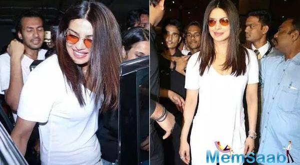 Priyanka Chopra back home