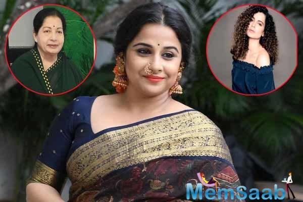 Jayalalithaa biopic: Vidya Balan was replaced by Kangana Ranaut, find out the reason