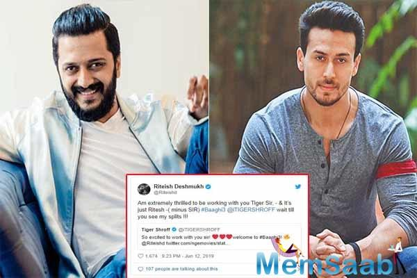 We recently reported that the Ek Villain actor Riteish Deshmukh is all set to star in Baaghi 3 along with Tiger Shroff and Shraddha Kapoor who will be reprising their role in this film.