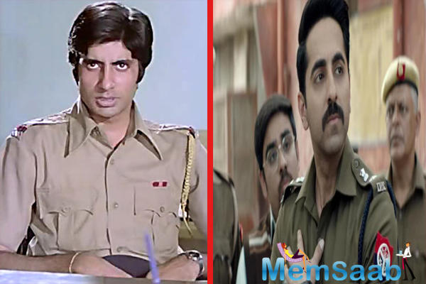 What's interesting is Anubhav Sinha felt that Ayushmann, who pulled the role effortlessly with this rare combination of heroic yet a realistic cop was last seen in Amitabh Bachchan's 1973 film Zanjeer.