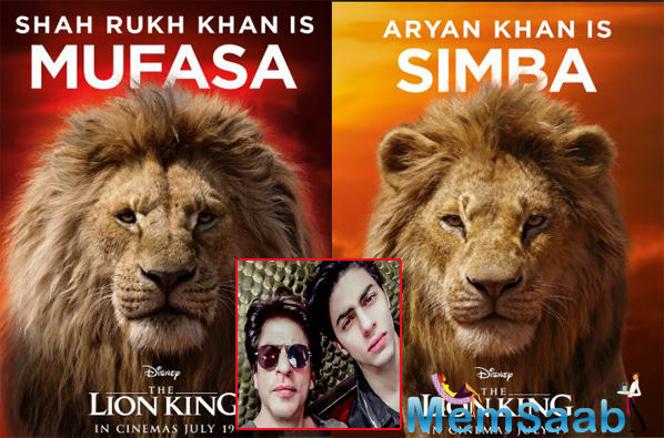 """Shah Rukh and Aryan will be lending their voices for King Mufasa and his son Simba, respectively, in the Hindi version of Disney's upcoming live-action film """"The Lion King""""."""