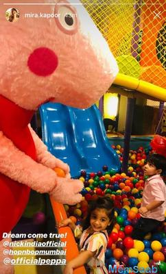 Shahid Kapoor, daughter Misha's dream of meeting Peppa Pig comes true; mommy Mira shares on Instagram