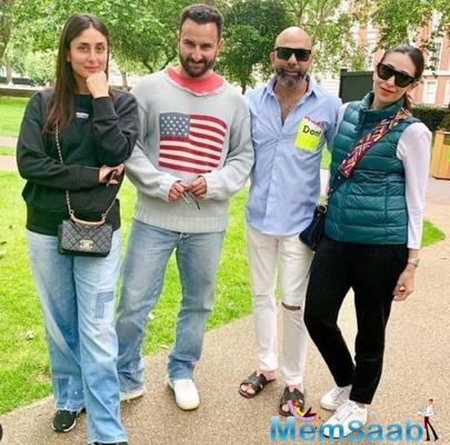 Kareena, Saif and Karisma Kapoor are a stunning trio as they pose with a friend