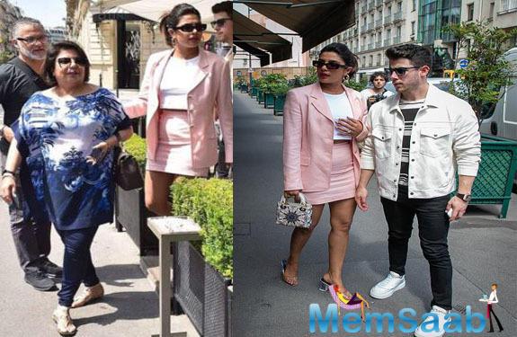 Madhu Chopra joins daughter Priyanka Chopra and Nick Jonas in Paris