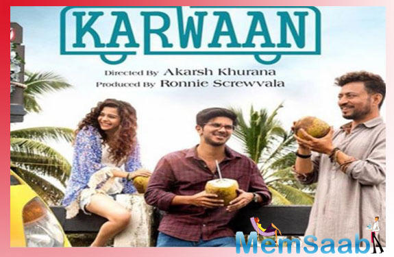 Dulquer Salmaan shares an emotional throwback video of Karwaan featuring Irrfan and Mithila Palkar
