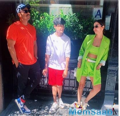 Malaika Arora is a complete goofball in this latest pic from New York; Actress chills with beau Arjun Kapoor and family.