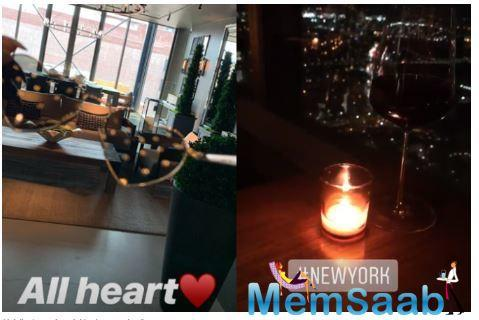 The picture we assume is from their romantic candlelight dinner. The snapshot posted before Malaika's image is of a candle from the same environment.
