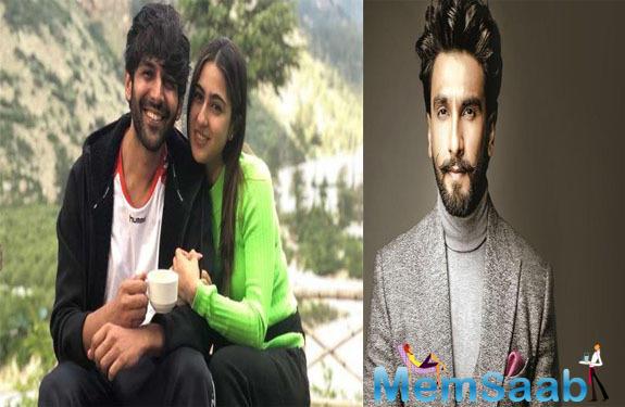 Ranveer Singh reminds Sara Ali Khan and Kartik Aaryan on how he played cupid between the two