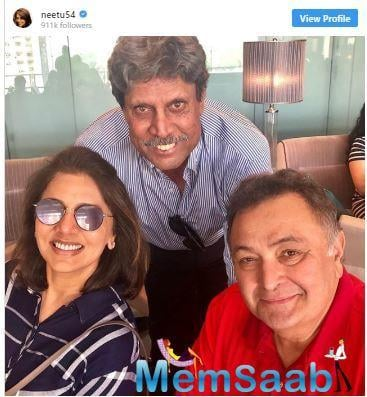 Just like any other Indian, Rishi Kapoor too is a cricket fan and a few days back, Rishi Kapoor, who is quite active on Twitter, congratulated Team India for qualifying for the semi-finals.