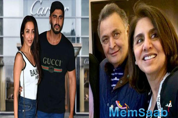 Lovebirds Malaika Arora-Arjun Kapoor meet Rishi Kapoor and Neetu Singh in NYC