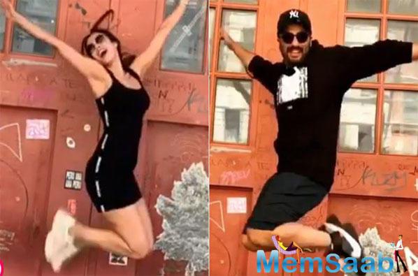 "Malaika Arora and Arjun Kapoor's boomerang pics from Tribeca are all heart, ""I make you look good,"" Malaika tells her beau"