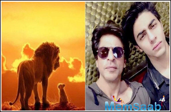 Shah Rukh Khan and his son, Aryan Khan surprised everyone by announcing the news about dubbing for the upcoming live-action Hollywood film, The Lion King.