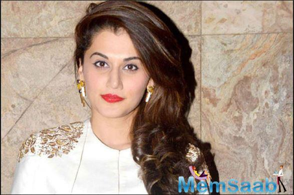 Taapsee was interacting with the media after meeting cancer affected children as part of a fund raising initiative hosted by a radio station here on Friday.