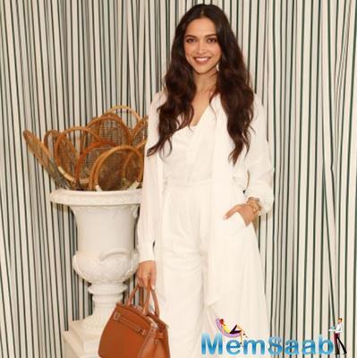Deepika Padukone looks ravishing in an all white attire as she attends the Wimbledon final