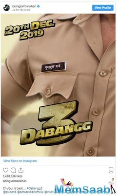 Find here with whom Salman Khan will romance in Dabangg 3 except Sonakshi Sinha aka Rajjo