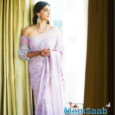 Sonam Kapoor Ahuja takes the saree Twitter challenge and adds a before and after twist to it
